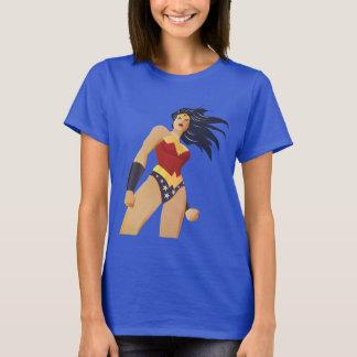 Wunder-Frauen-Retro Stadt-Sonnendurchbruch T-Shirt