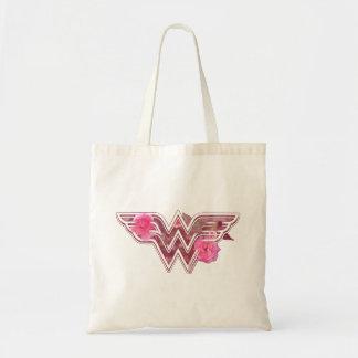 Wunder-Frauen-Rosa-Kamelien-Blumen-Logo Budget Stoffbeutel