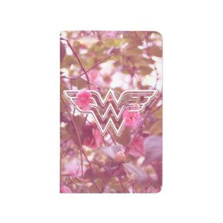 Wunder-Frauen-Rosa-Kamelien-Blumen-Logo Taschennotizbuch