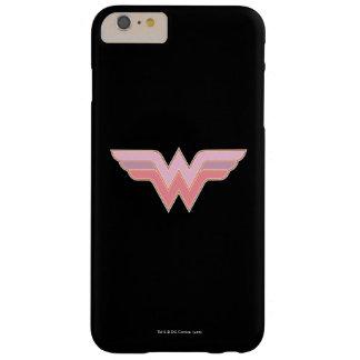 Wunder-Frauen-rosa und orange Maschen-Logo Barely There iPhone 6 Plus Hülle