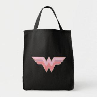 Wunder-Frauen-rosa und orange Maschen-Logo Tragetasche