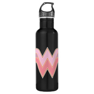 Wunder-Frauen-rosa und orange Maschen-Logo Trinkflasche