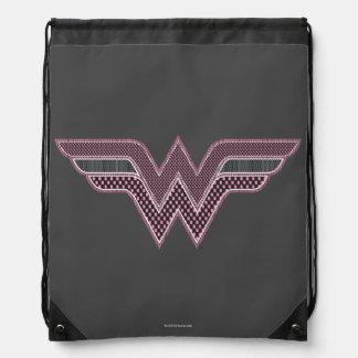 Wunder-Frauen-rosa und schwarzes Sportbeutel