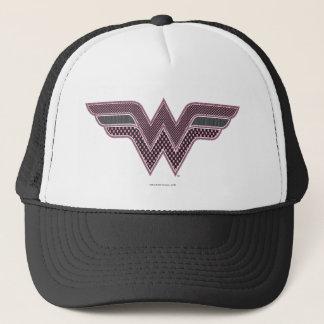 Wunder-Frauen-rosa und schwarzes Truckerkappe