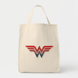 Wunder-Frauen-rotes blaues Steigungs-Logo Einkaufstasche