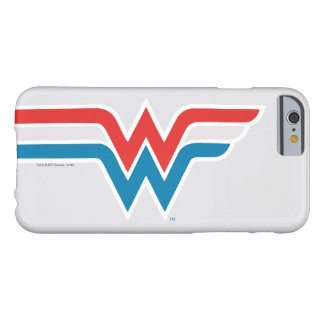 Wunder-Frauen-rotes weißes und blaues Logo Barely There iPhone 6 Hülle