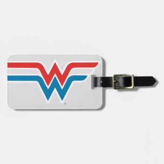 Wunder-Frauen-rotes weißes und blaues Logo Kofferanhänger