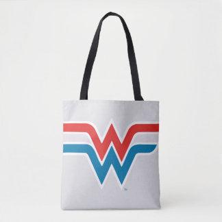 Wunder-Frauen-rotes weißes und blaues Logo Tasche
