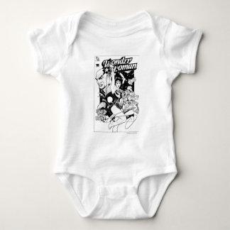 Wunder-Frauen-Rückkehr des Khundi B&W Baby Strampler