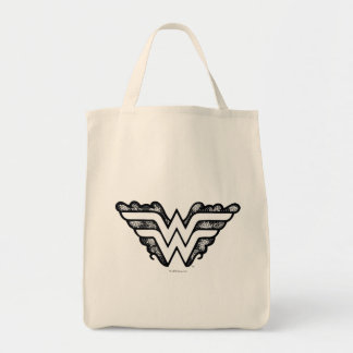 Wunder-Frauen-Schwarz-Spitze-Logo Einkaufstasche