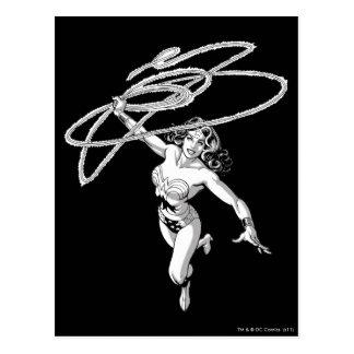 Wunder-Frauen-schwarze u. weiße Rotation Postkarte