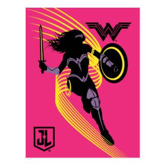Wunder-Frauen-Silhouette-Ikone der Postkarte