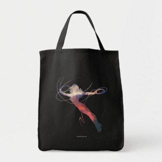 Wunder-Frauen-Sonnenuntergang-Himmel-Silhouette Einkaufstasche