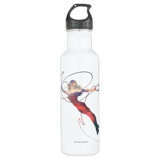 Wunder-Frauen-Sonnenuntergang-Himmel-Silhouette Trinkflasche