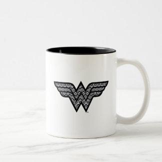 Wunder-Frauen-Stammes- Muster Zweifarbige Tasse