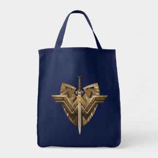 Wunder-Frauen-Symbol mit Klinge von Gerechtigkeit Einkaufstasche