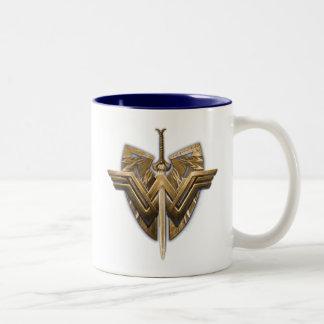 Wunder-Frauen-Symbol mit Klinge von Gerechtigkeit Zweifarbige Tasse