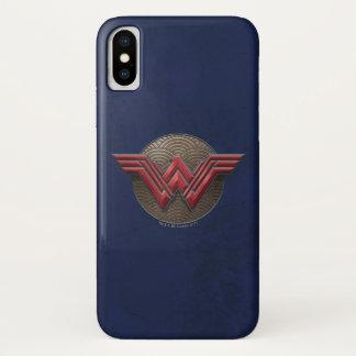 Wunder-Frauen-Symbol über konzentrischen Kreisen iPhone X Hülle