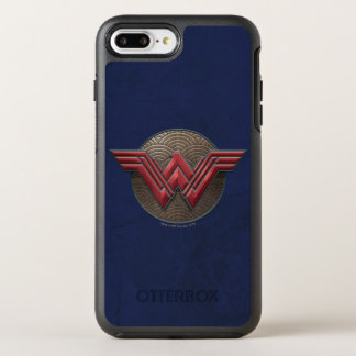 Wunder-Frauen-Symbol über konzentrischen Kreisen OtterBox Symmetry iPhone 8 Plus/7 Plus Hülle