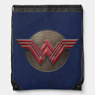 Wunder-Frauen-Symbol über konzentrischen Kreisen Sportbeutel