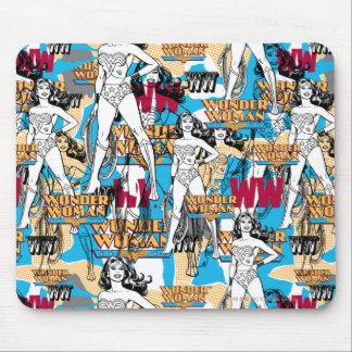 Wunder-Frauen-Wurf-Muster Mousepad