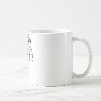 Wunder-Frauschwarzer u. weißer Lasso Kaffeetasse