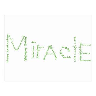 Wunder - Grün - Februars wow Postkarte