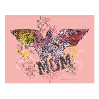 Wunder-Mamma-gemischte Medien Postkarte