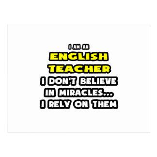 Wunder und Englischlehrer… lustig Postkarte