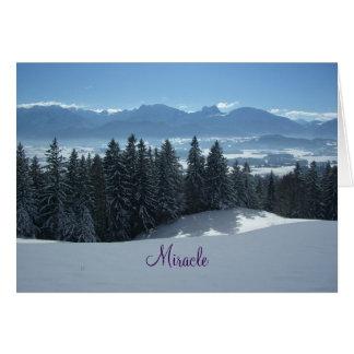 Wunder-Weihnachtspoesie Grußkarte