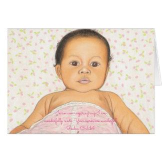 Wunderbar Made~Scripture~Baby Mitteilungskarte