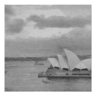Wunderbare Architektur von Sydney-Opernhaus Poster