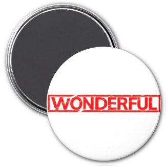 Wunderbare Briefmarke Runder Magnet 7,6 Cm