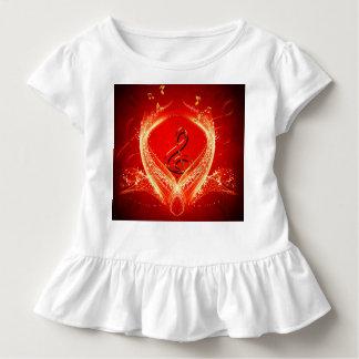 Wunderbare Clef- und Grundgedanken über roten Kleinkind T-shirt