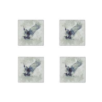 Wunderbare Eule im Aquarell Stein-Magnet