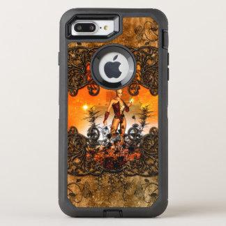 Wunderbare Fee in einem Rahmen mit Rosen OtterBox Defender iPhone 8 Plus/7 Plus Hülle