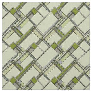 Wunderbare grüne Künste u. Handwerks-geometrisches Stoff