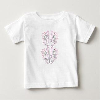 Wunderbare handgemalte Verzierungen Schwarz-weiß Baby T-shirt