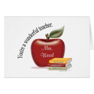 Wunderbare Lehrer-Karte Mitteilungskarte