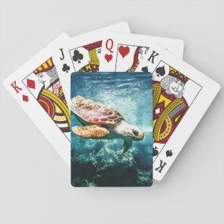 Wunderbare Meeresschildkröte-Unterwasserleben Spielkarten