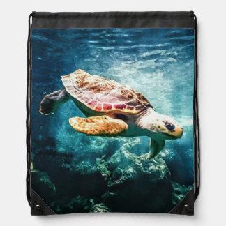 Wunderbare Meeresschildkröte-Unterwasserleben Sportbeutel
