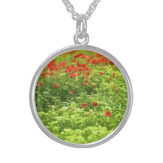 Wunderbare Mohnblumen-Blumen V - Wundervolle Sterling Silberkette