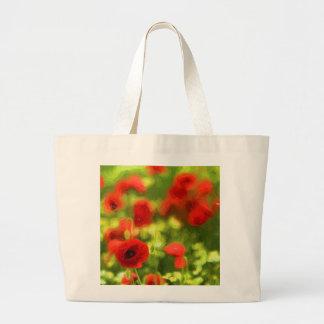 Wunderbare Mohnblumen-Blumen VI - Wundervolle Jumbo Stoffbeutel