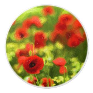 Wunderbare Mohnblumen-Blumen VI - Wundervolle Keramikknauf