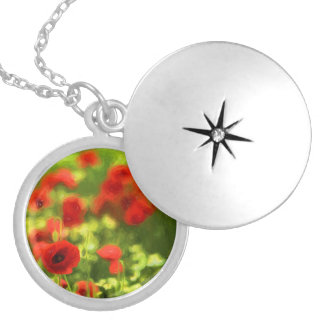Wunderbare Mohnblumen-Blumen VI - Wundervolle Medaillon