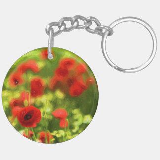 Wunderbare Mohnblumen-Blumen VI - Wundervolle Schlüsselanhänger