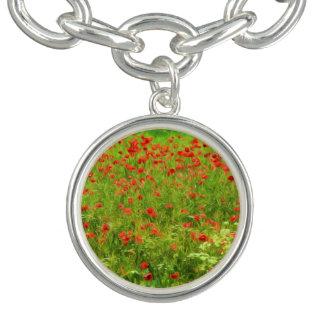 Wunderbare Mohnblumen-Blumen VII - Wundervolle Charm Armbänder