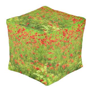 Wunderbare Mohnblumen-Blumen VII - Wundervolle Kubus Sitzpuff