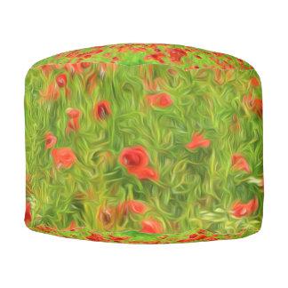 Wunderbare Mohnblumen-Blumen VII - Wundervolle Runder Sitzpuff