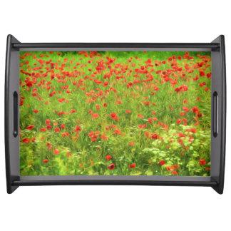 Wunderbare Mohnblumen-Blumen VII - Wundervolle Serviertablett